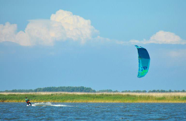 Kitesurfen Saaler Bodden