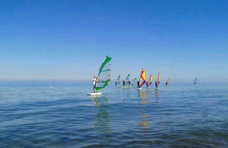 Windsurfkurs Ostsee Aktivurlaub Kinder